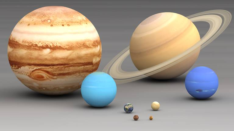 Solar System with Titles